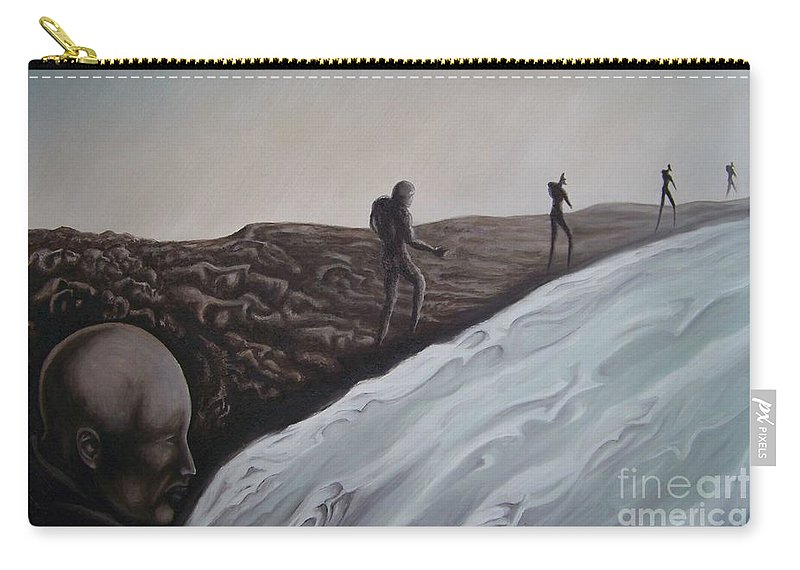 Tmad Carry-all Pouch featuring the painting Premonition by Michael TMAD Finney