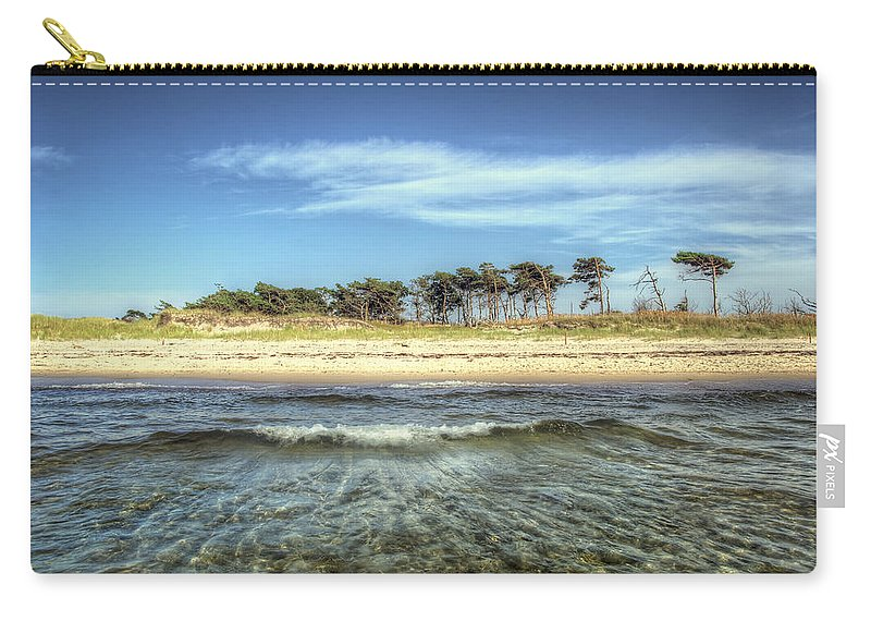 Ostsee Carry-all Pouch featuring the pyrography Prerow Beach by Steffen Gierok
