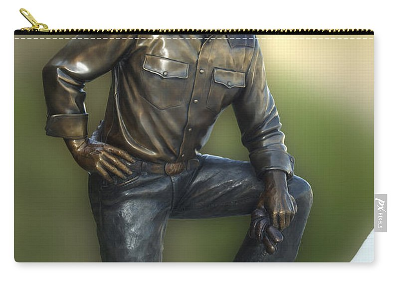 President Ronald Reagan Carry-all Pouch featuring the photograph President Ronald Reagan Statue by Thomas Woolworth