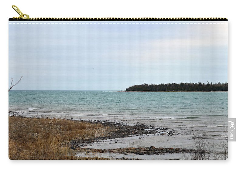 Presque Isle Carry-all Pouch featuring the photograph Presque Isle Harbor by Linda Kerkau