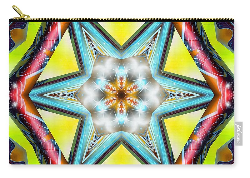 Sacredlife Mandalas Carry-all Pouch featuring the digital art Pressurized by Derek Gedney