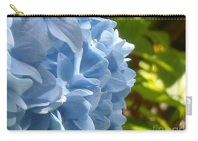 Flower Carry-all Pouch featuring the photograph Pretty Blue Flower by Line Gagne