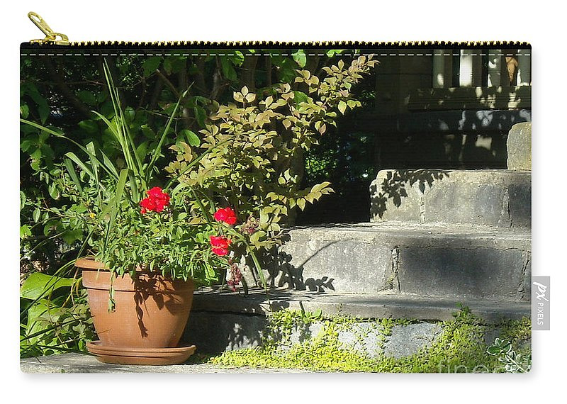 Flowers Carry-all Pouch featuring the photograph Pretty Gardens by Line Gagne