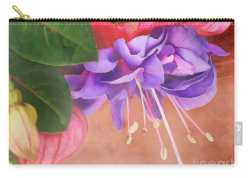 Artistic Carry-all Pouch featuring the photograph Pretty Little Fuchsia by Peggy Hughes