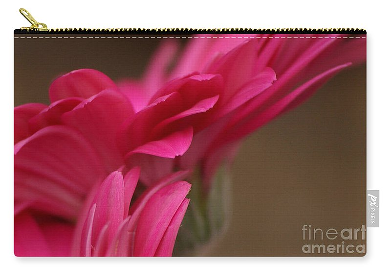 Pink Carry-all Pouch featuring the photograph Pretty Petals by Carol Lynch