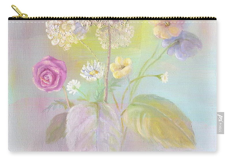 Still Life Carry-all Pouch featuring the painting Primavera by Marlene Book