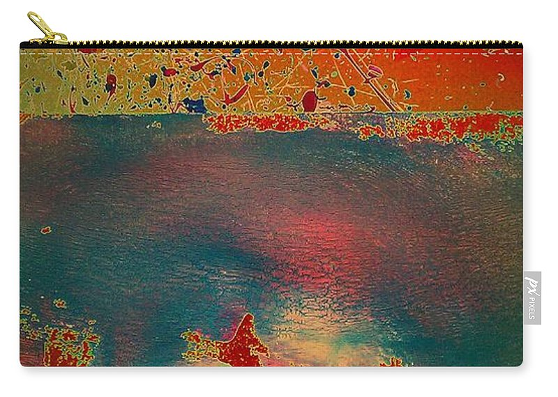 Primordial Carry-all Pouch featuring the painting Primordial by Jacqueline McReynolds