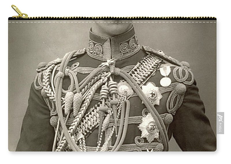 1890 Carry-all Pouch featuring the photograph Prince Albert Victor by Granger