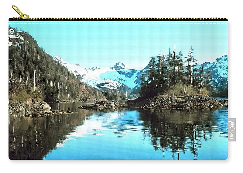 Noaa Photographer Carry-all Pouch featuring the painting Prince William Sound Alaska by NOAA Photographer