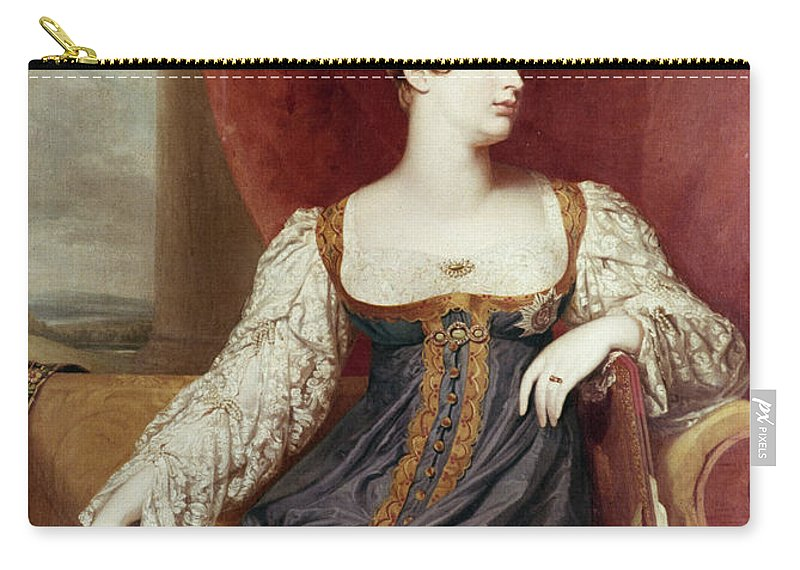19th Century Carry-all Pouch featuring the painting Princess Charlotte by Granger