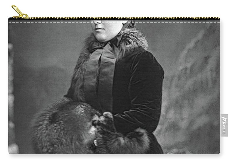 1890 Carry-all Pouch featuring the photograph Princess Helena (1846-1923) by Granger