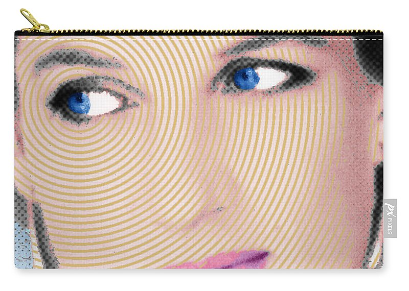 Lady Diana Carry-all Pouch featuring the painting Princess Lady Diana by Tony Rubino