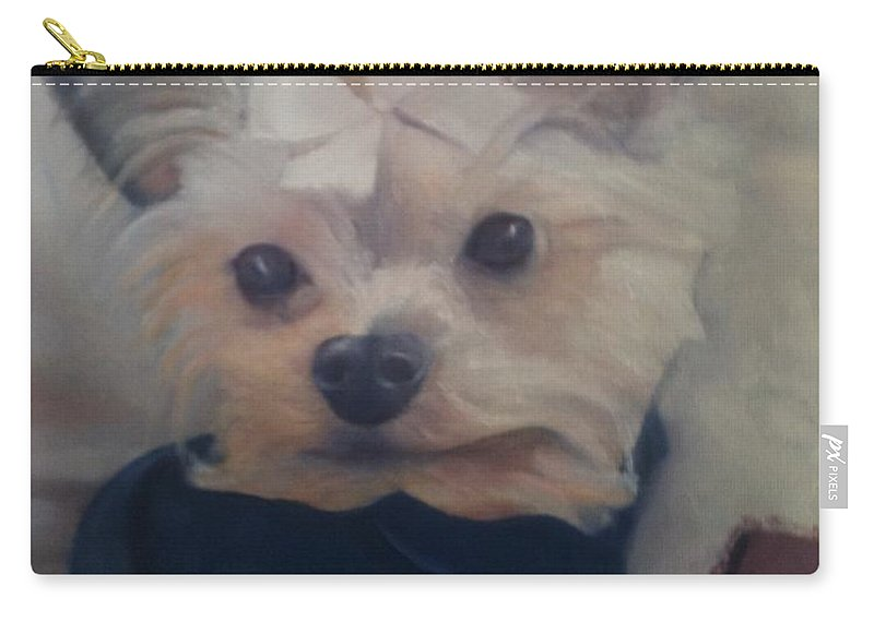 Dog Carry-all Pouch featuring the painting Princess Pricilla by Sheila Mashaw