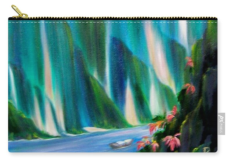 Water Carry-all Pouch featuring the painting Prisms by Dina Holland