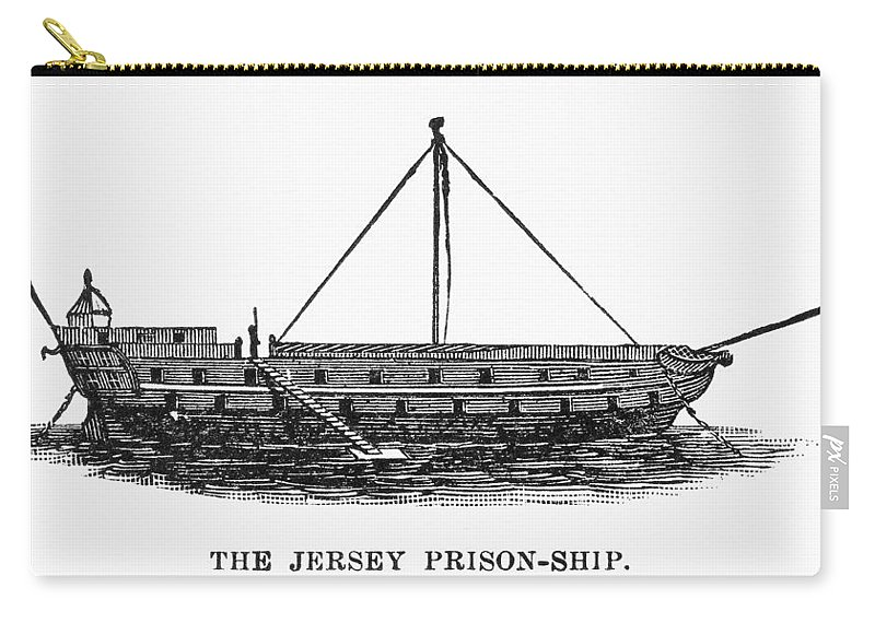 1780s Carry-all Pouch featuring the photograph Prison Ship: Jersey by Granger