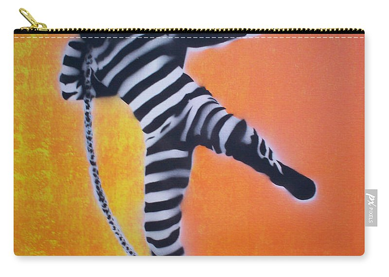Shotput Carry-all Pouch featuring the painting Prisoner Shotput by Gary Hogben