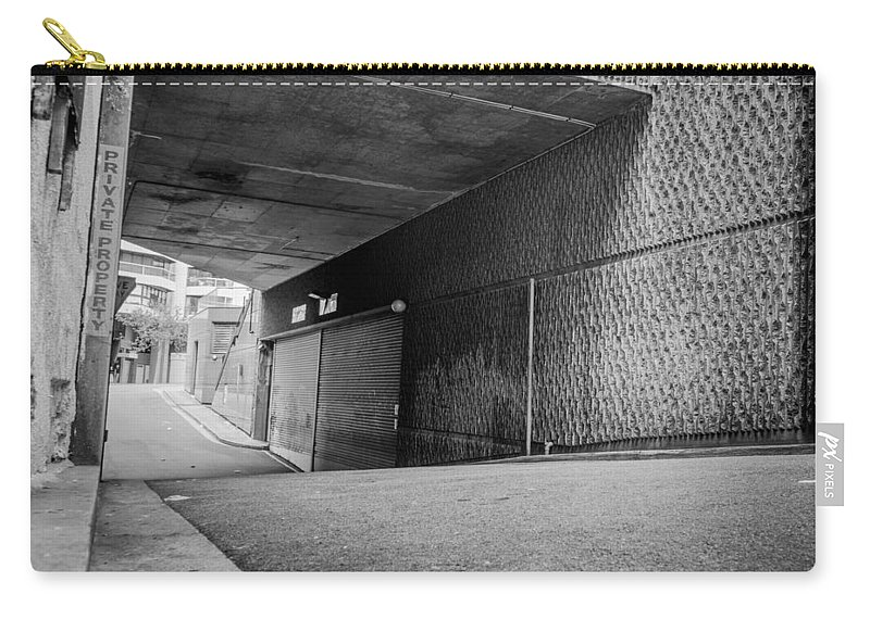 Alley Carry-all Pouch featuring the photograph Private Property by Kaleidoscopik Photography
