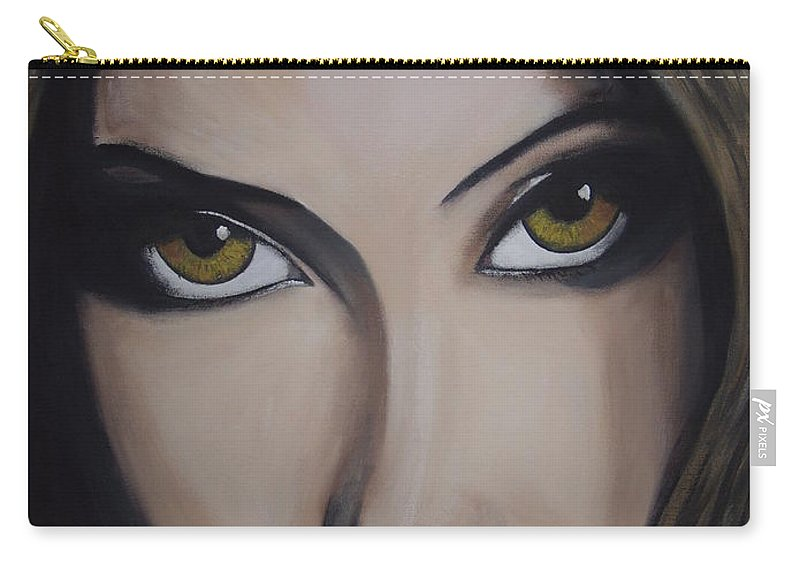 Bollywood Star Carry-all Pouch featuring the painting Priyanka Chopra by Dean Stephens