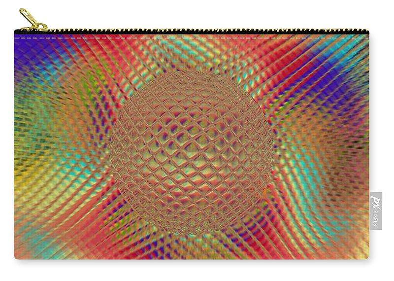 Abstract Carry-all Pouch featuring the digital art Probing Orb by Pharris Art