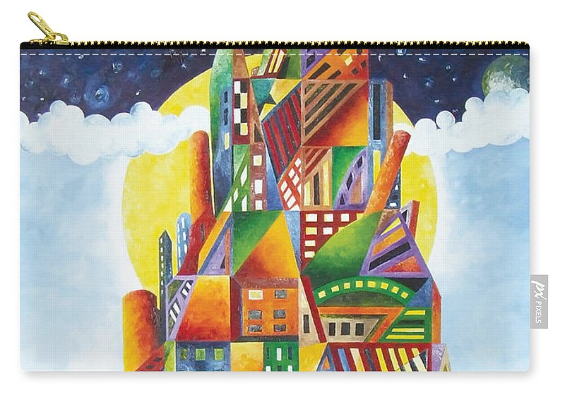 Colors Carry-all Pouch featuring the painting Progress by Bert Munoz