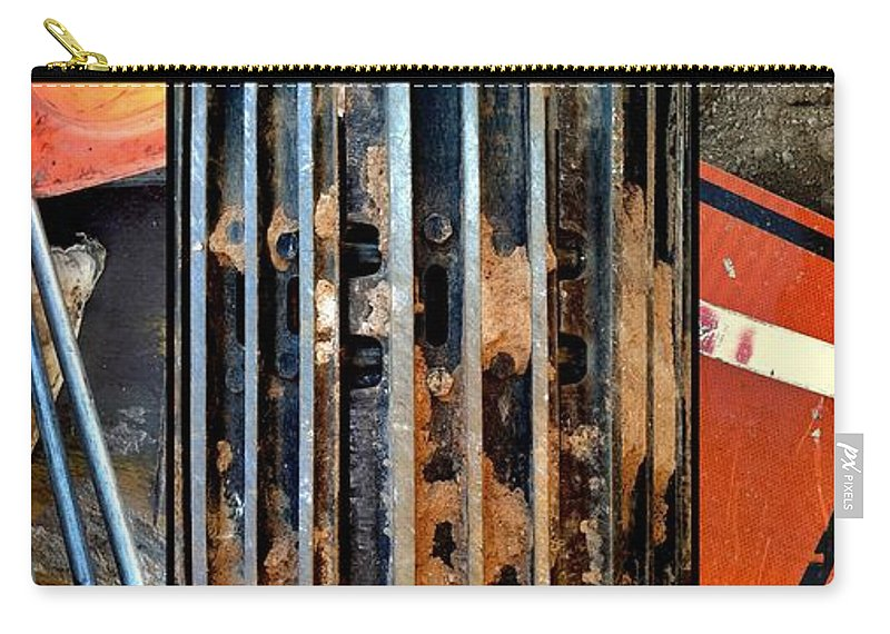 Construction Carry-all Pouch featuring the photograph Pros And Cons Truction by Marlene Burns