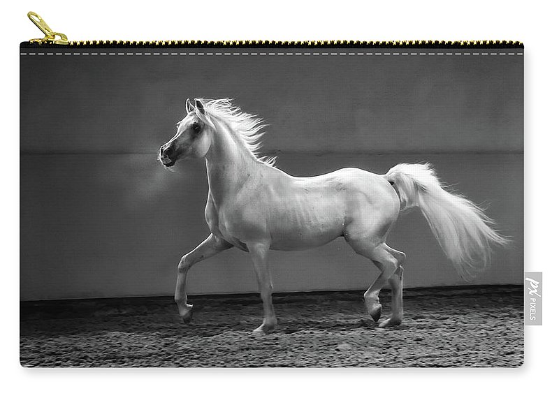 Horse Carry-all Pouch featuring the photograph Proud Arabian Horse - Stallion In by Kerrick