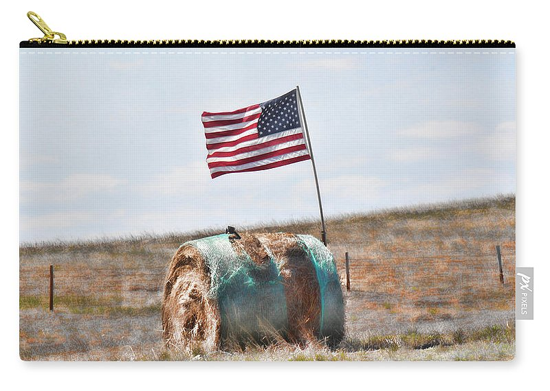 Flag Carry-all Pouch featuring the photograph Proud To Be An American by Sylvia Thornton
