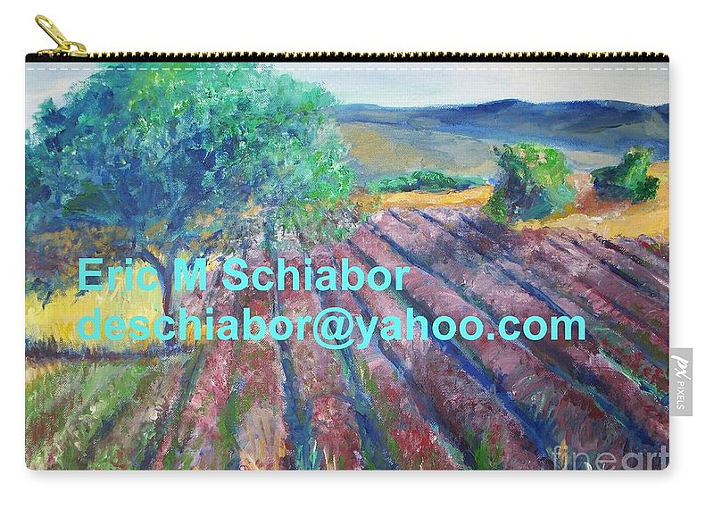 The Actor Carry-all Pouch featuring the painting Provence Lavender Field by Eric Schiabor