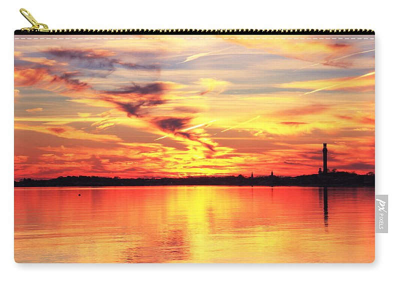 Evening Carry-all Pouch featuring the photograph Provincetown Harbor Sunset by Roupen Baker
