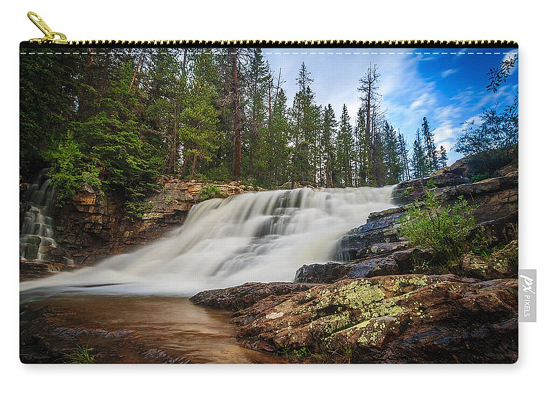 Gigimarie Carry-all Pouch featuring the photograph Provo River Falls 2 by Gina Herbert