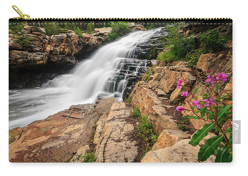 Gigimarie Carry-all Pouch featuring the photograph Provo River Falls 3 by Gina Herbert