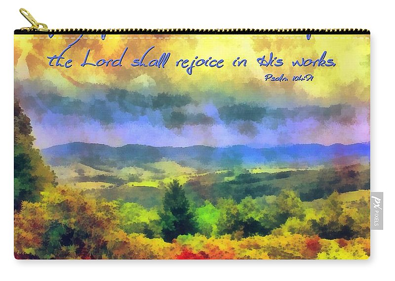 Psalm 104 31 Carry All Pouch For Sale By Michelle Greene Wheeler