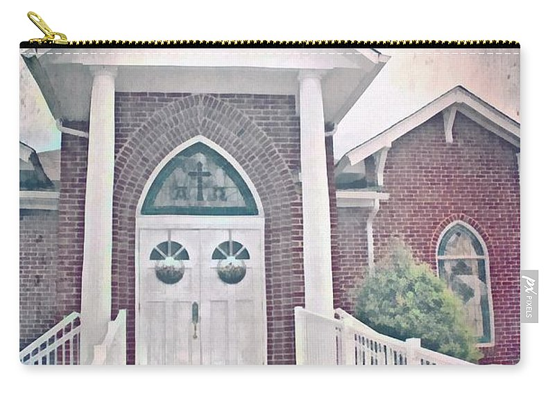 Jesus Carry-all Pouch featuring the digital art Psalm 122 1 by Michelle Greene Wheeler