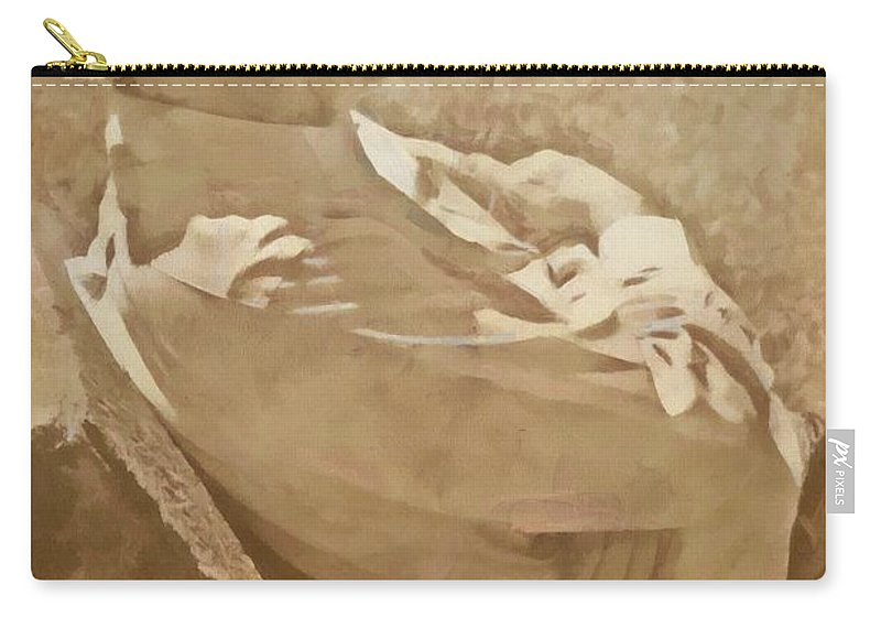 Jesus Carry-all Pouch featuring the digital art Psalm 71 9 by Michelle Greene Wheeler