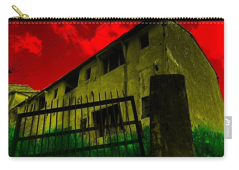 Wallpaper Buy Art Print Phone Case T-shirt Beautiful Duvet Case Pillow Tote Bags Shower Curtain Greeting Cards Mobile Phone Apple Android Nature Psychedelic Colourful Photoshop Old Horror Ghost Haunted Paintings Salman Ravish Khan Carry-all Pouch featuring the photograph Psychedelic by Salman Ravish