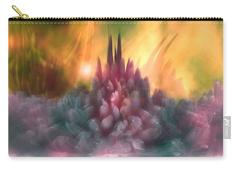 Abstract Carry-all Pouch featuring the digital art Psychedelic Tendencies  by Linda Sannuti