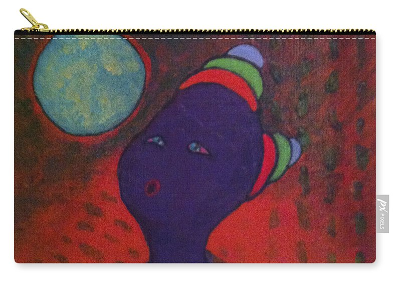 Painting Carry-all Pouch featuring the painting Pucker Up Blow by Catherine Helmick