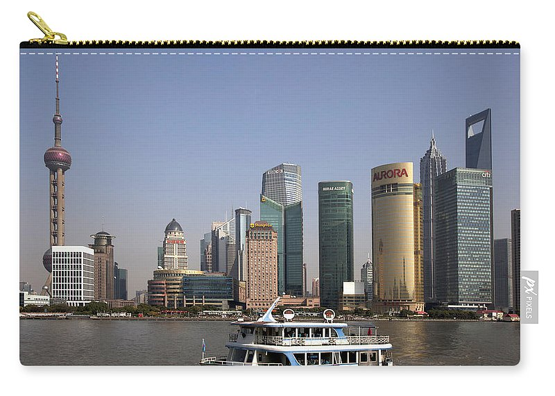 Pudong Carry-all Pouch featuring the photograph Pudong by Anders Hingel