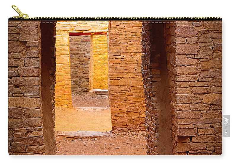 America Carry-all Pouch featuring the photograph Pueblo Doorways by Inge Johnsson