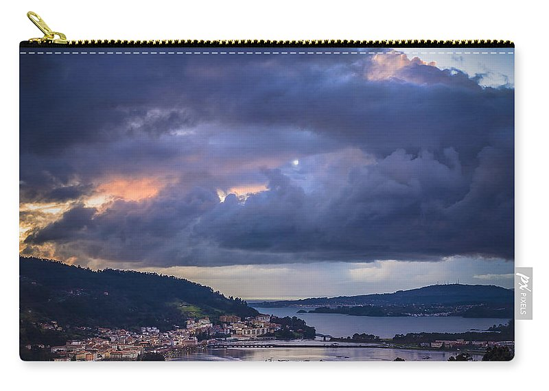 Ares Carry-all Pouch featuring the photograph Puentedeume From Cabria Noguerosa Galicia Spain by Pablo Avanzini