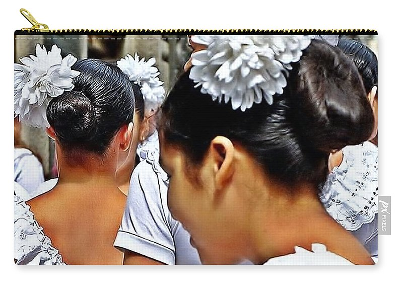 Puerto Rican Day Parade Carry-all Pouch featuring the photograph Puerto Rican Day Parade Lineup by Lilliana Mendez