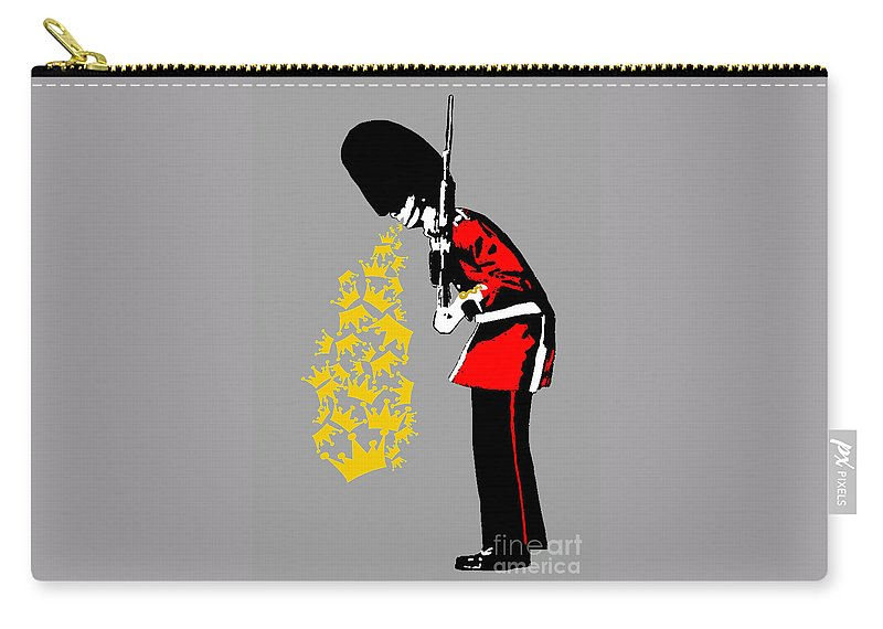 Puke Carry-all Pouch featuring the painting Puke Royal Guard Digital Version by Bela Manson
