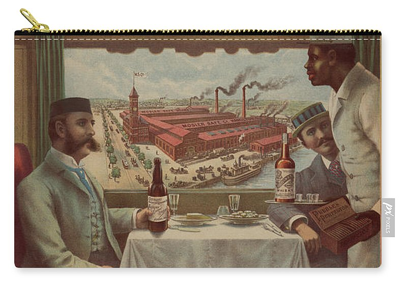 Pullman Car Carry-all Pouch featuring the painting Pullman Compartment Cars Ad Circa 1894 by George Pedro