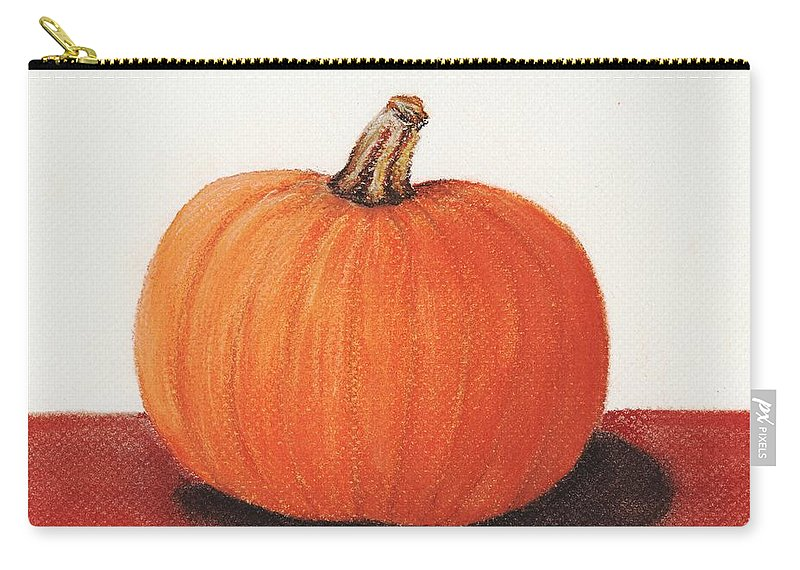 Malakhova Carry-all Pouch featuring the painting Pumpkin by Anastasiya Malakhova