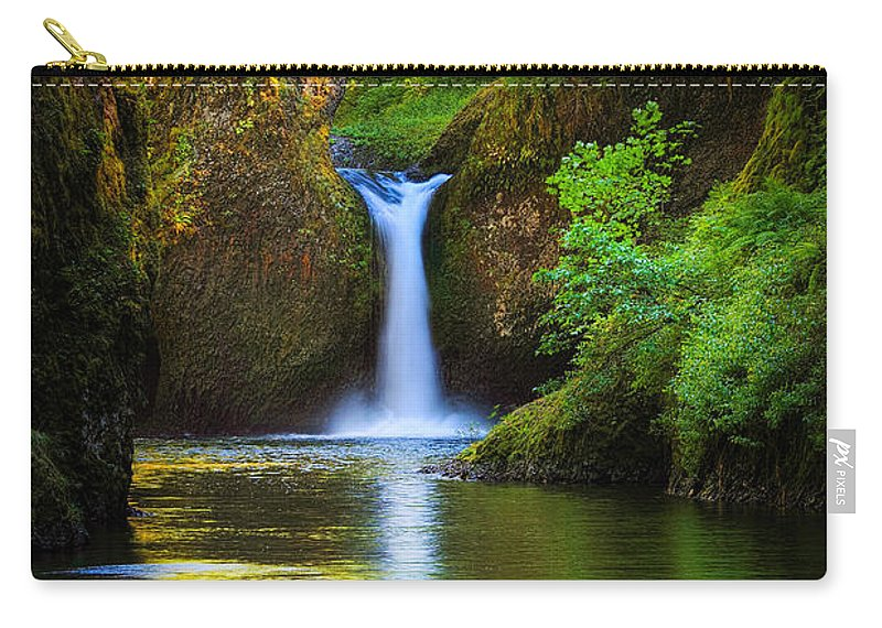 America Carry-all Pouch featuring the photograph Punchbowl Falls by Inge Johnsson