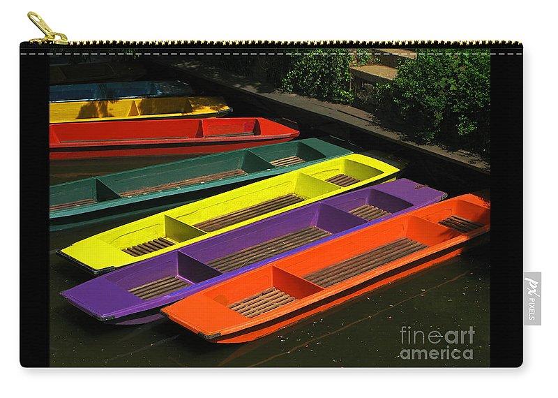 Punts Carry-all Pouch featuring the photograph Punts For Hire by Ann Horn