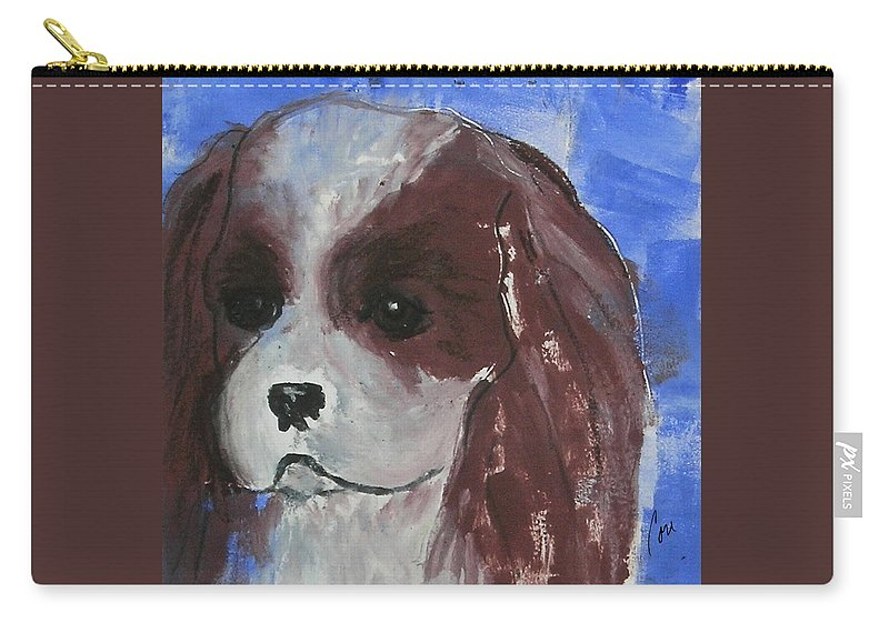 Monotype Carry-all Pouch featuring the mixed media Puppy Doll by Cori Solomon