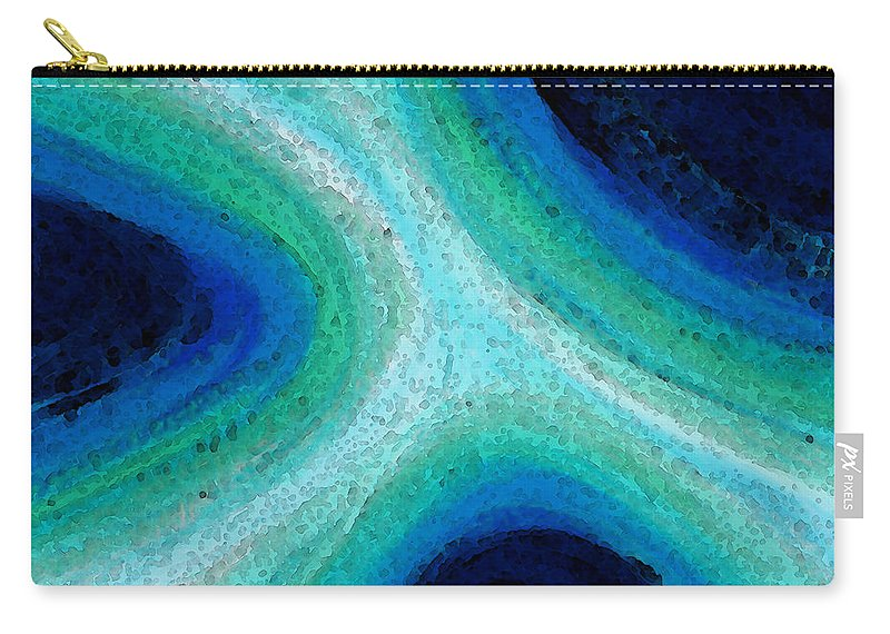 Sharon Cummings Carry-all Pouch featuring the painting Pure Energy by Sharon Cummings