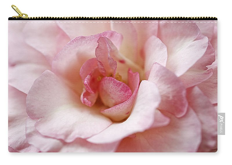 Rose Carry-all Pouch featuring the photograph Pure Rose by Claudia Moeckel