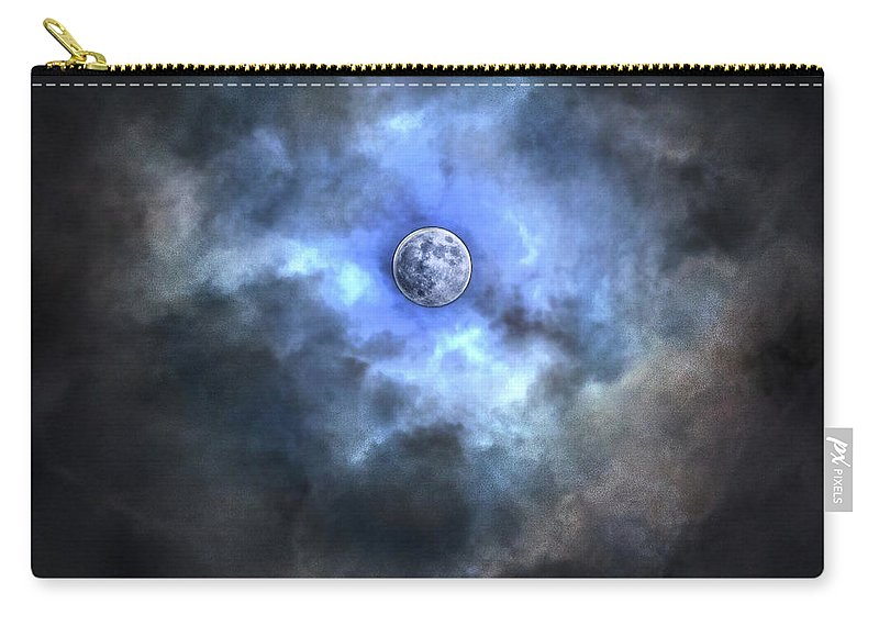 Tranquility Carry-all Pouch featuring the photograph Purnama by Jemang Images